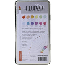 Load image into Gallery viewer, Nuvo Watercolor Pencils 12/Pkg pastels