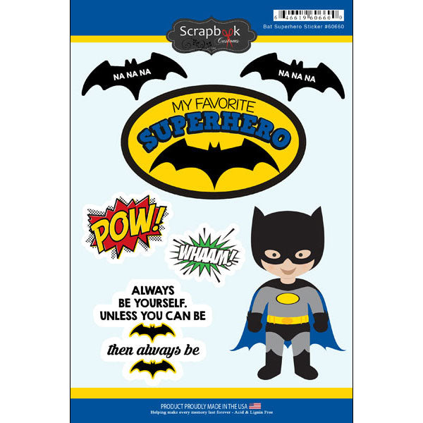 BAT SUPERHERO STICKER