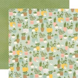 "Spring Farmhouse Double-Sided Cardstock 12""X12"" Plant Smiles"