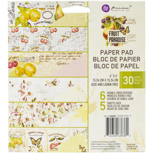 "Prima Marketing Double-Sided Paper Pad 6""X6"" 30/Pkg Fruit Paradise"