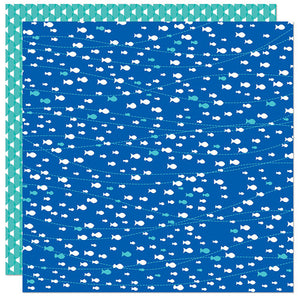 "Splash Zone Double-Sided Cardstock 12""X12"" Swim Like A Fish"