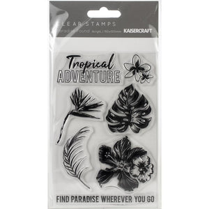 "Paradise Found Clear Stamps 6""X4"""