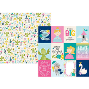 "Little Princess Double-Sided Cardstock 12""X12"" 3""X4"" Elements"