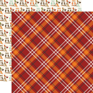 "My Favorite Fall Double-Sided Cardstock 12""X12"" Fall Plaid"