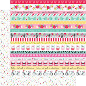 "Love Notes Double-Sided Cardstock 12""X12"" Sweet Sprinkles"