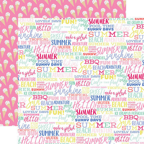 Best Summer Ever Double-Sided Cardstock 12