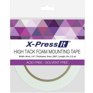 X-Press It High Tack Foam Mounting Tape 1/4""