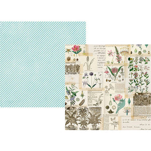 "Simple Vintage Botanicals Double-Sided Cardstock 12""X12"" Collect Moments"
