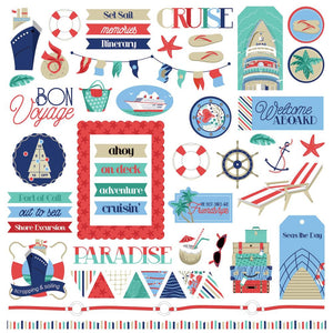 "Set Sail Stickers 12""X12"""