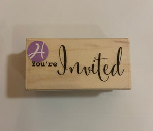 You're Invited Wood Stamp