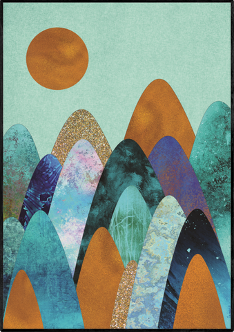 Abstrakt plakat - Copper Mountains - posterart.dk