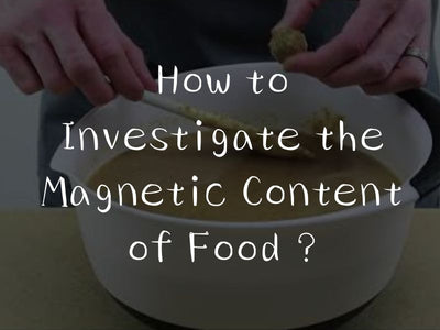 How to Investigate the Magnetic Content of Food ?