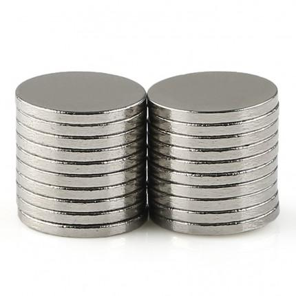 200 Pcs Disc Neodymium Magnets | Size: 10×1mm | N35 | Nickel(Ni-Cu-Ni) - MAGANETSHUB