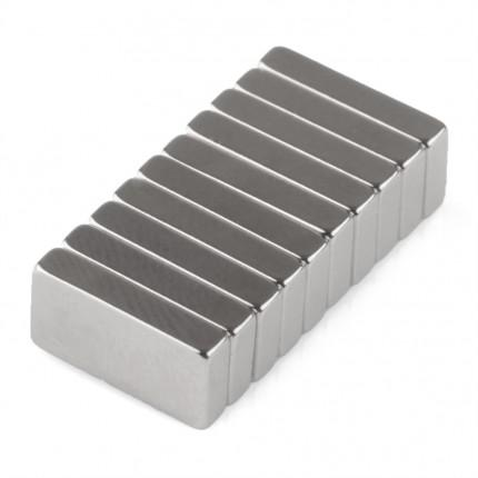 500 Pcs Block Neodymium Magnets | Size: 10×5×2mm | N35 | Nickel(Ni-Cu-Ni) - MAGANETSHUB