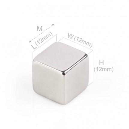 50 Pcs Block Neodymium Magnets | Size: 12×12×12mm | N48 | Nickel(Ni-Cu-Ni) - MAGANETSHUB