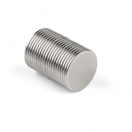 200 Pcs Disc Neodymium Magnets | Size: 15×1mm | N50 | Nickel(Ni-Cu-Ni) - MAGANETSHUB