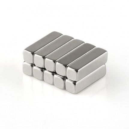 100 Pcs Block Neodymium Magnets | Size: 15×4×4mm | N50 | Nickel(Ni-Cu-Ni) - MAGANETSHUB