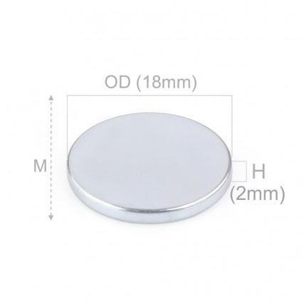 100 Pcs Disc Neodymium Magnets | Size: 18×2mm | N42 | ZN - 1.946kg pull - MAGANETSHUB