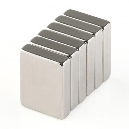 60 Pcs Block Neodymium Magnets | Size: 18×13.5×4mm | N50 | Nickel(Ni-Cu-Ni) - MAGANETSHUB