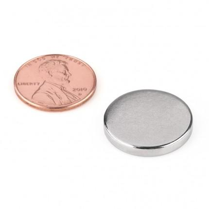 100 Pcs Disc Neodymium Magnets | Size: 20×3mm | N50 | Nickel(Ni-Cu-Ni) - MAGANETSHUB