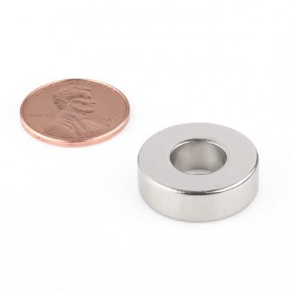 50 Pcs Ring Neodymium Magnets | Size: 20mm(OD) x 8mm(ID)x 6.5mm | N50 | Nickel(Ni-Cu-Ni) - MAGANETSHUB