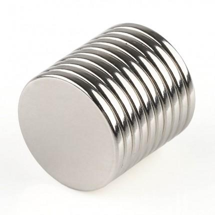 50 Pcs Disc Neodymium Magnets | Size: 20×2mm | N50 | Nickel(Ni-Cu-Ni) - MAGANETSHUB