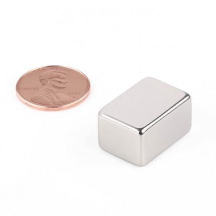 5 Pcs Block Neodymium Magnets | Size: 20×14×11mm | N50 | Nickel(Ni-Cu-Ni) - MAGANETSHUB