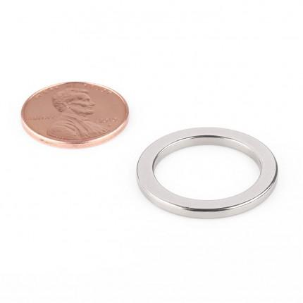 50 Pcs Ring Neodymium Magnets | Size: 24mm(OD) x 18mm(ID)x 2mm | N50 | Nickel(Ni-Cu-Ni) - MAGANETSHUB