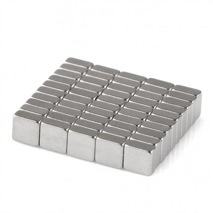 1000 Pcs Block Neodymium Magnets | Size: 3.4×3.4×1.5mm | N35 | Nickel(Ni-Cu-Ni) - MAGANETSHUB