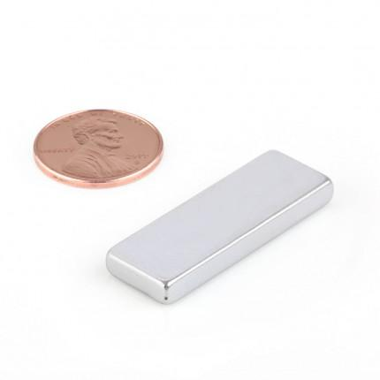 5 Pcs Block Neodymium Magnets | Size: 34×12×4mm | N50 | ZN - 7.267kg pull - MAGANETSHUB