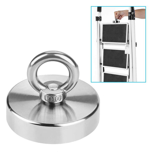 N50 Strong Fishing Neodymium Magnets 75 mm| Pull Force :160KG - MAGANETSHUB