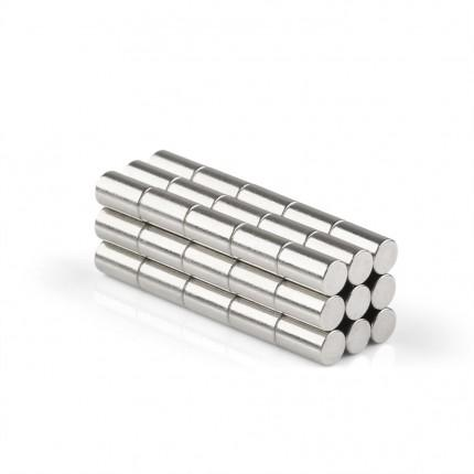 250 Pcs Rod Neodymium Magnets | Size: 3×5mm | N50 | Nickel(Ni-Cu-Ni) - MAGANETSHUB