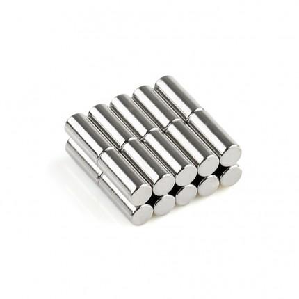 200 Pcs Rod Neodymium Magnets | Size: 4×10mm | N50 | Nickel(Ni-Cu-Ni) - MAGANETSHUB