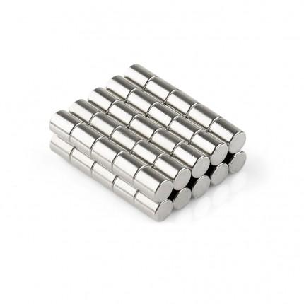 250 Pcs Rod Neodymium Magnets | Size: 4×5mm | N50 | Nickel(Ni-Cu-Ni) - MAGANETSHUB
