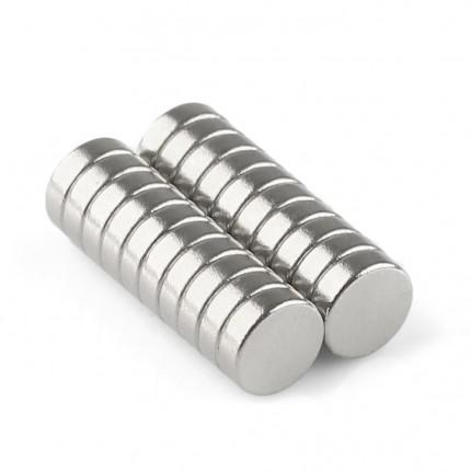 200 Pcs Disc Neodymium Magnets | Size: 5×1.5mm | N50 | Nickel(Ni-Cu-Ni) - MAGANETSHUB