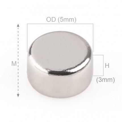 200 Pcs Disc Neodymium Magnets | Size: 5×3mm | N42 | Nickel(Ni-Cu-Ni) - MAGANETSHUB