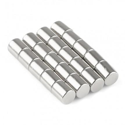 200 Pcs Rod Neodymium Magnets | Size: 5×6mm | N50 | Nickel(Ni-Cu-Ni) - MAGANETSHUB