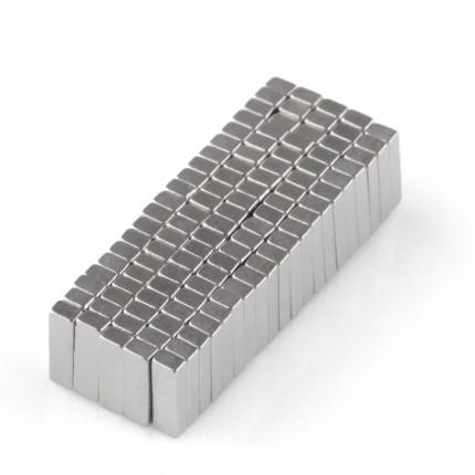 500 Pcs Block Neodymium Magnets | Size: 5×1.5×1mm | N50 | Nickel(Ni-Cu-Ni) - MAGANETSHUB