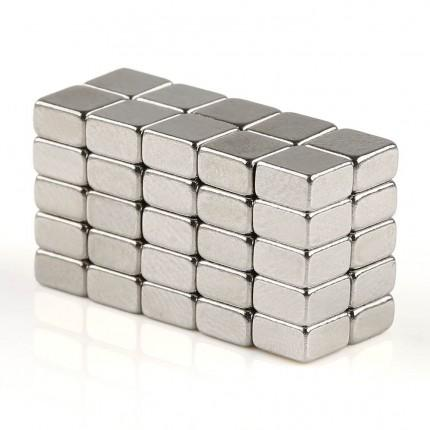 200 Pcs Block Neodymium Magnets | Size: 5×5×3mm | N50 | Nickel(Ni-Cu-Ni) - MAGANETSHUB