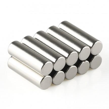 100 Pcs Rod Neodymium Magnets | Size: 6×20mm | N50 | Nickel(Ni-Cu-Ni) - MAGANETSHUB