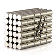 100 Pcs Rod Neodymium Magnets |Size:6×10mm | N42 | Nickel(Ni-Cu-Ni) - MAGANETSHUB