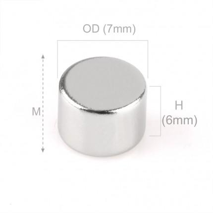 100 Pcs Disc Neodymium Magnets | Size: 7×6mm | N42 | Nickel(Ni-Cu-Ni) - MAGANETSHUB