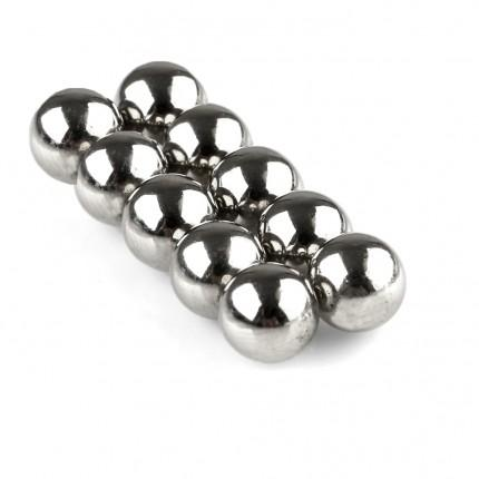 100 Pcs Sphere Neodymium Magnets | Size: OD=9.5mm | N42 | Nickel(Ni-Cu-Ni) - MAGANETSHUB