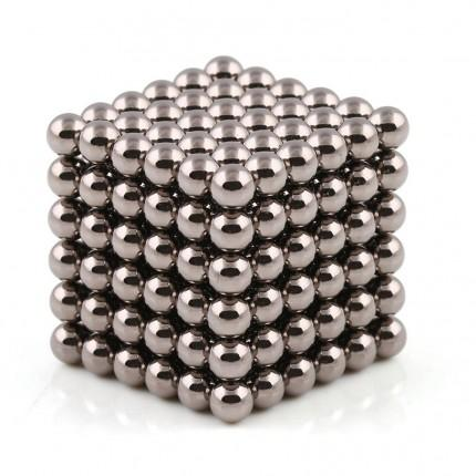 216 Pcs Sphere Neodymium Magnetic balls | Size: OD=5mm | N42| Nickel(Ni-Cu-Ni)| Color: Dark Nickel - MAGANETSHUB