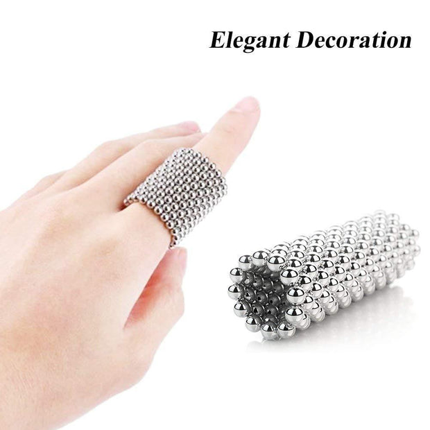 216 Pcs Sphere Neodymium Magnetic balls | Size: OD=3mm | N35| Nickel(Ni-Cu-Ni)| Color: Silver - MAGANETSHUB