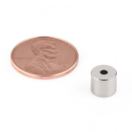 100 Pcs Ring Neodymium Magnets | Size: 7mm(OD) x 2mm(ID)x6mm | N35 | Nickel(Ni-Cu-Ni) - MAGANETSHUB