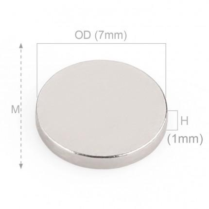 200 Pcs Disc Neodymium Magnets | Size: 7×1mm | N35 | Nickel(Ni-Cu-Ni) - MAGANETSHUB