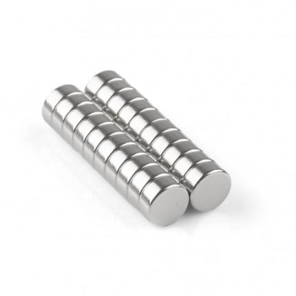 200 Pcs Disc Neodymium Magnets | Size: 7×3mm | N35 | Nickel(Ni-Cu-Ni) - MAGANETSHUB