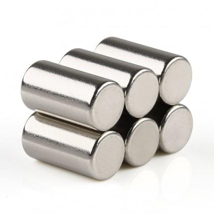 60 Pcs Rod Neodymium Magnets | Size:8×15mm | N35 | Nickel(Ni-Cu-Ni) - MAGANETSHUB
