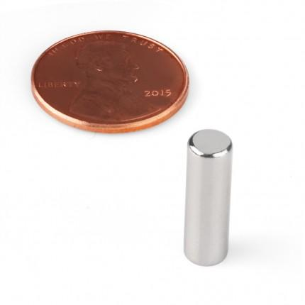 100 Pcs Rod Neodymium Magnets | Size: 5×16mm | N38 | Nickel(Ni-Cu-Ni) - MAGANETSHUB